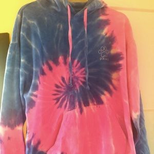 Pawz tie-dye hooded sweatshirt women size Medium